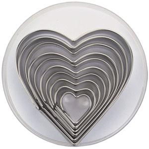 Kakformar Hjärtan 10 st i förvaringsask