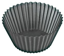 Lékué Bull/Muffinsformar Silikon 12 st Svarta