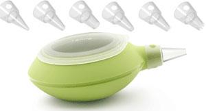 Lékué Decomax Dekorsprits Silikon Grön med sex munstycken