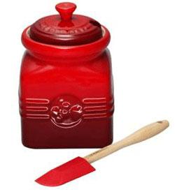 Le Creuset Marmeladburk med Slev Röd