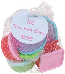 Rice Plastburkar 12 Småburkar Rektangulära & Runda