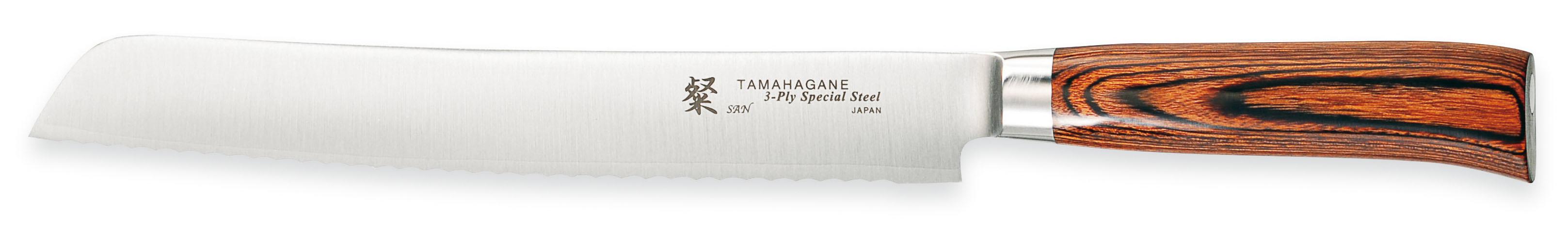 Tamahagane San Brødkniv 23 cm - ett lag