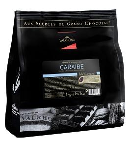 Valrhona Grand Cru Caraibe 66% 1Kg Pellets