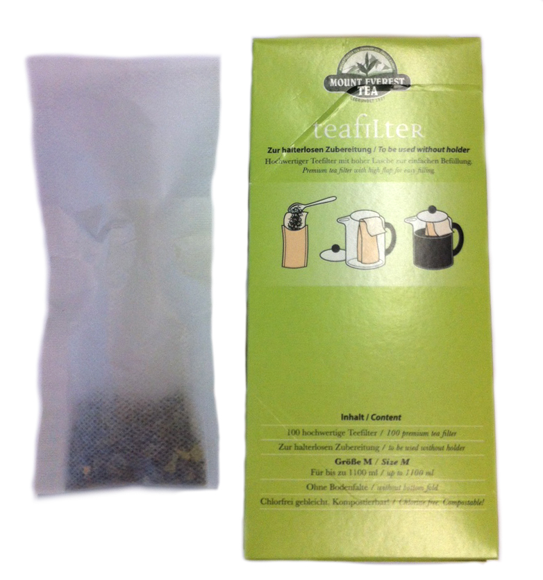 Engångfilter tepåsar M 100-pack