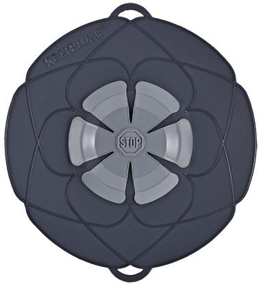 Kochblume lock med överkokningsskydd Grå Mellan 14-24 cm