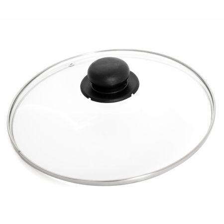 Glaslock 24 cm med stålkant