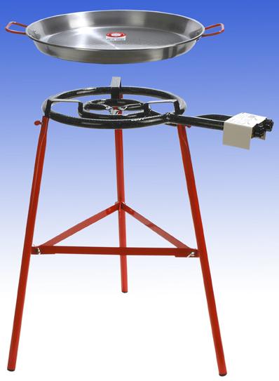 Paellapanna 60 cm med brännare och ställning