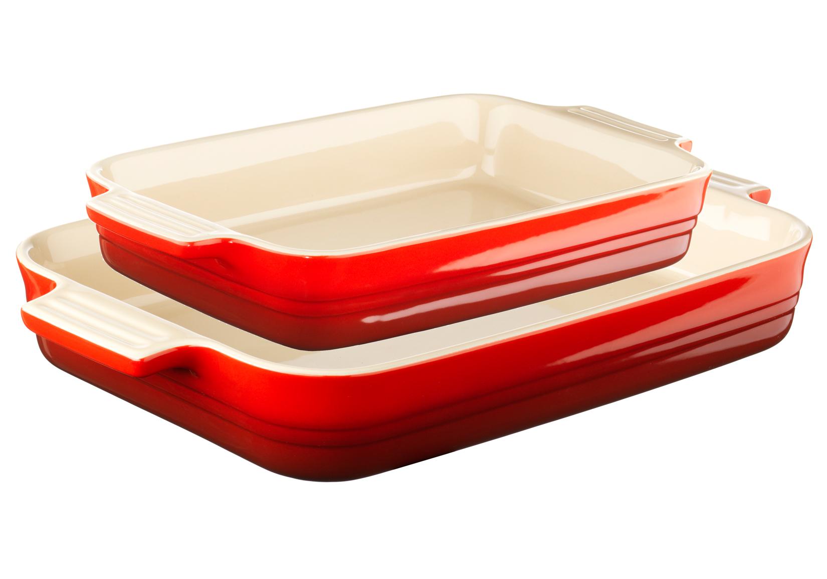 Le Creuset Rektangulär Formset 26 cm & 32 cm Röd