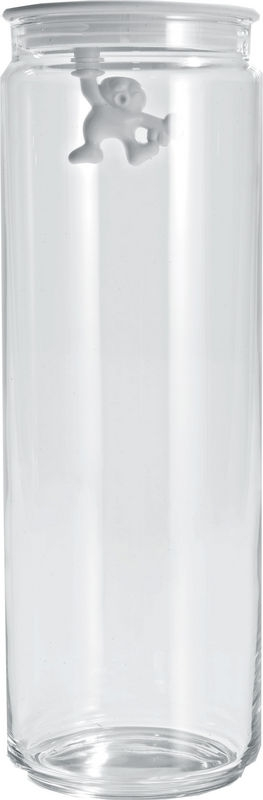 Alessi Gianni Glasburk med Lock Vit 200 cl