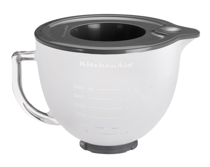 KitchenAid Frostad Skål i Glas 483 Liter med Silikonlock