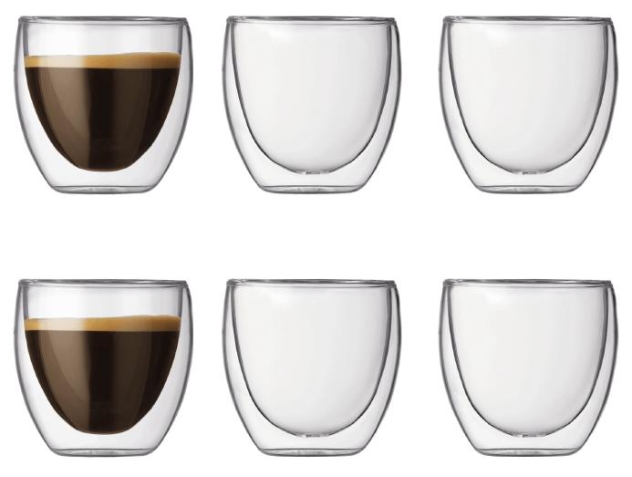 Bodum Pavina Dubbelväggigt Glas Espresso 6 pack