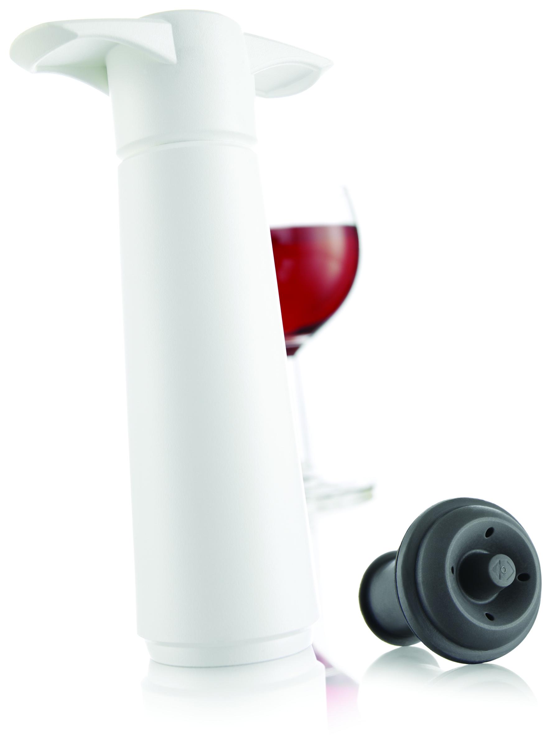 Vacu Vin Wine Saver Vakuumpump med en stopper Vit