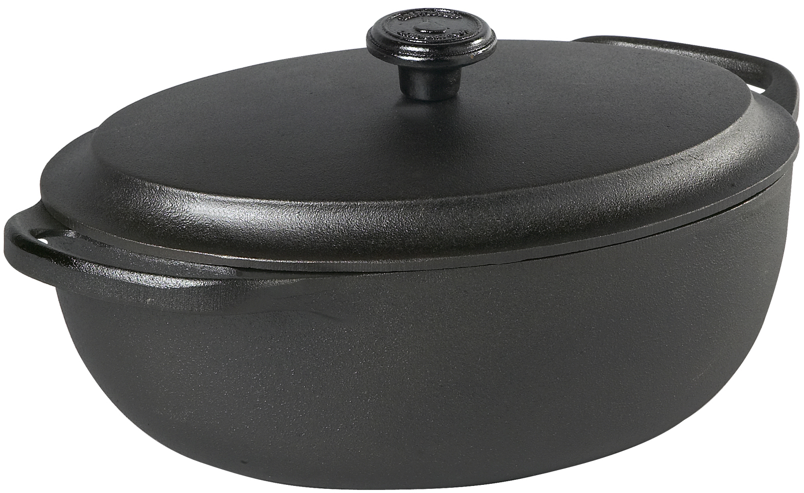 Skeppshult Oval Gryte 4 liter Støpejern Jernlokk
