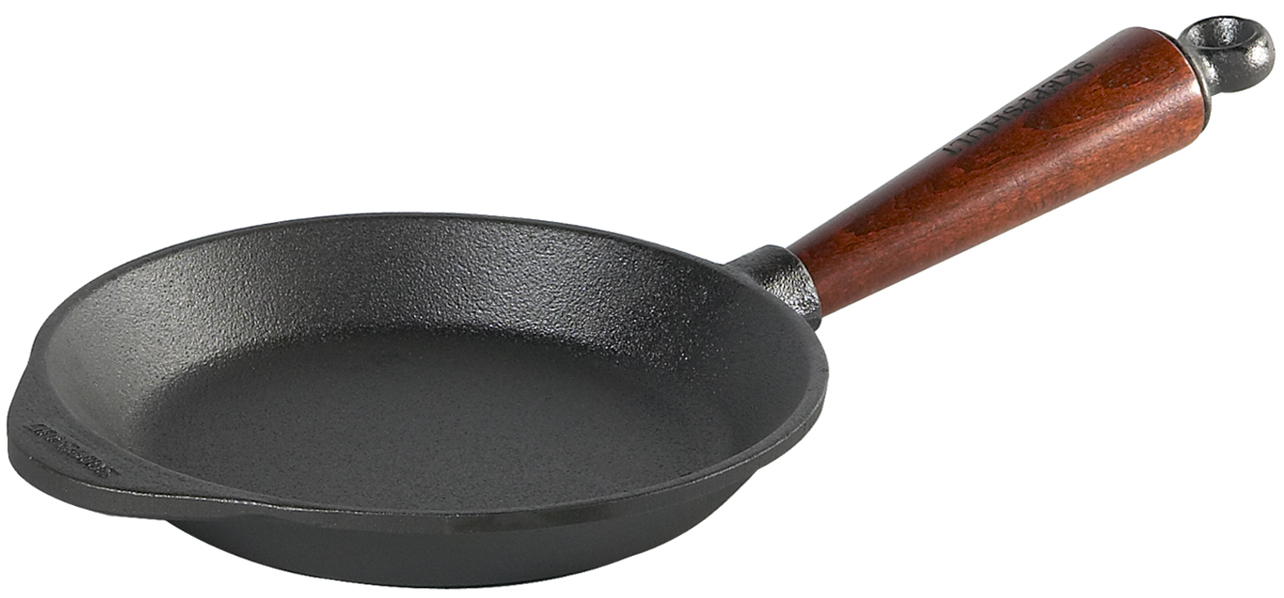 Skeppshult Stekpanna Gjutjärn 18 cm Trähandtag
