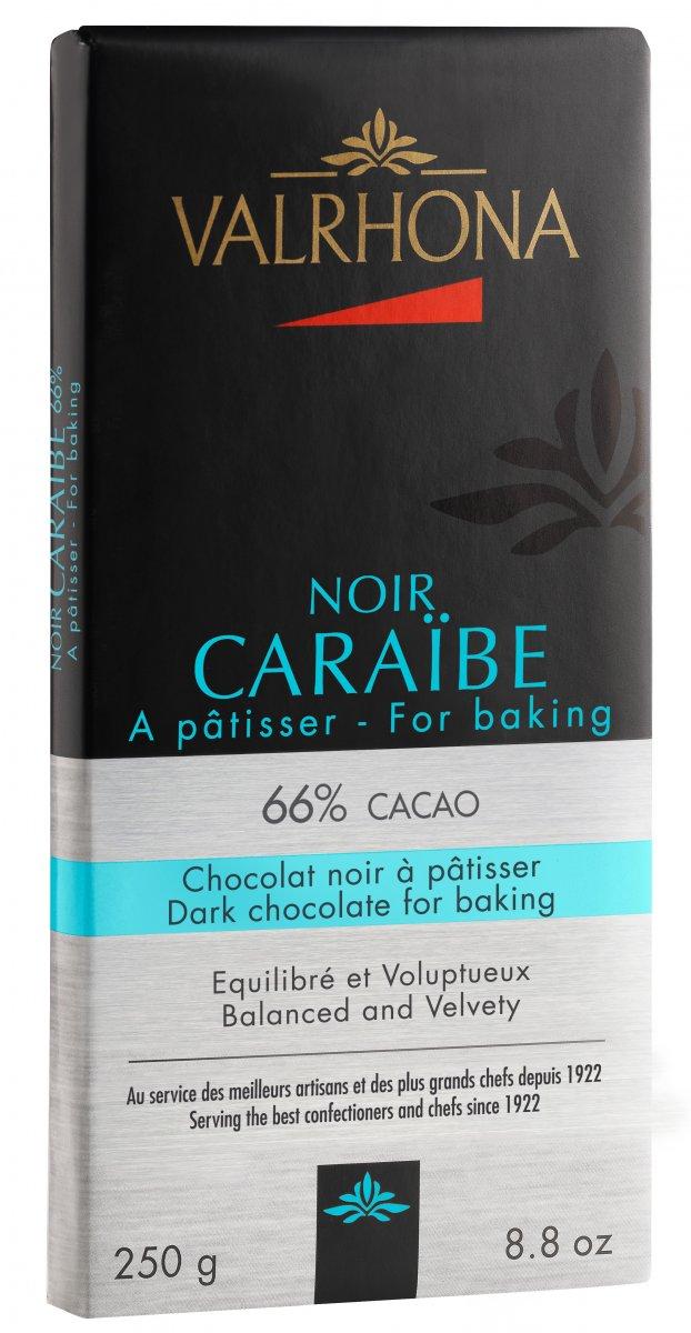 Valrhona Gastronomi Choklad 250g Caraibe 66%