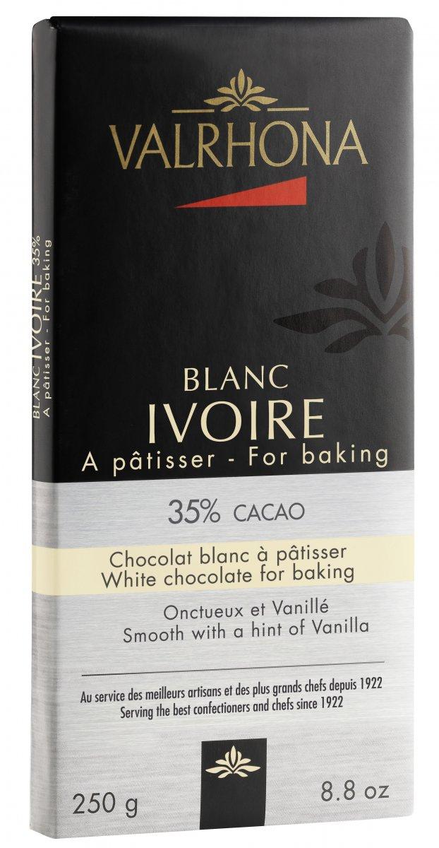 Valrhona Gastronomi Choklad 250g Ivoire 35%