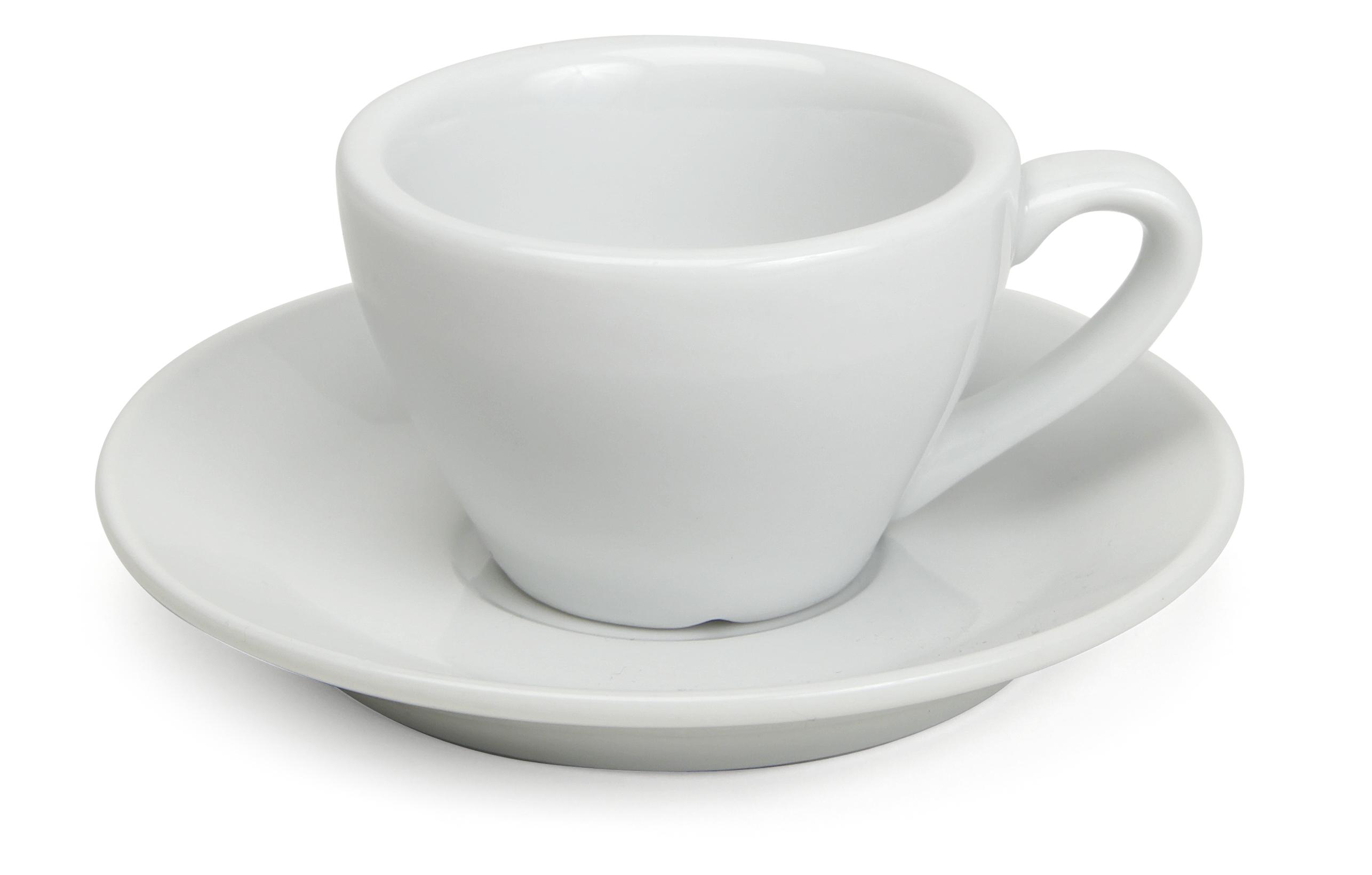 Espressokopp med fat Classic 8cl Fältspatsporslin
