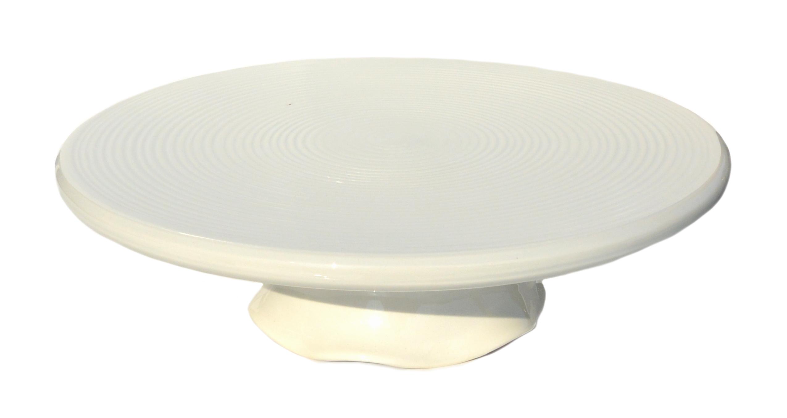 Gerbera Tårtfat Algarve Cremevit 30 cm