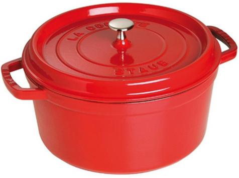 Staub Rund Gryte 30 cm 8,35 liter Rød