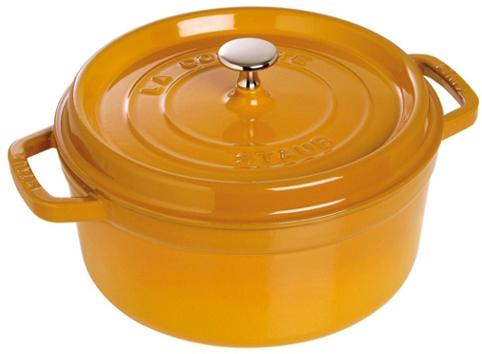 Staub Rund Gryta 26 cm 52 liter Mustard