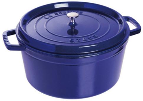 Staub Rund Gryte 30 cm 8,35 liter Blå