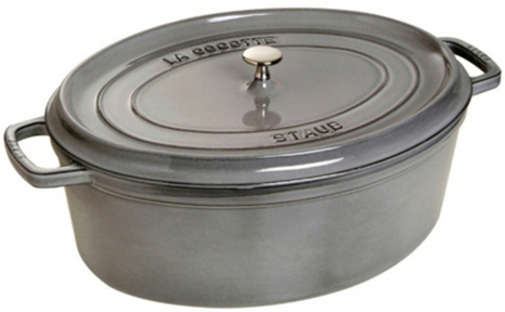 Staub Oval Gryta 41 cm 12 liter Grafitgrå