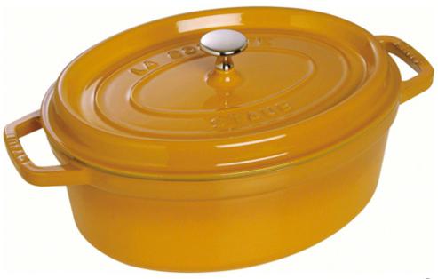 Staub Oval Gryta 37 cm 8 liter Mustard