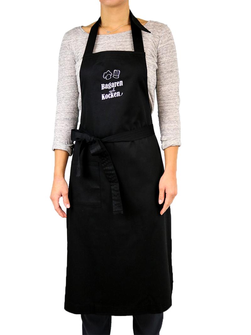 Bagaren och Kocken Bröstlappsförkläde Svart