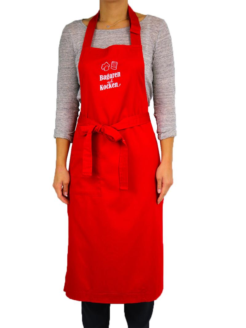 Bagaren och Kocken Bröstlappsförkläde Röd