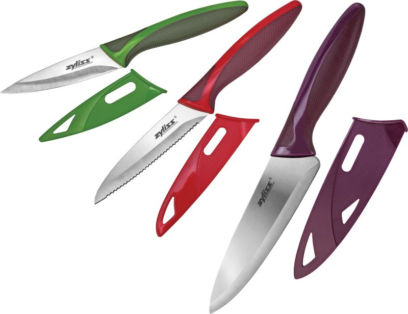 Zyliss Knivsett 3 kniver med beskyttelse