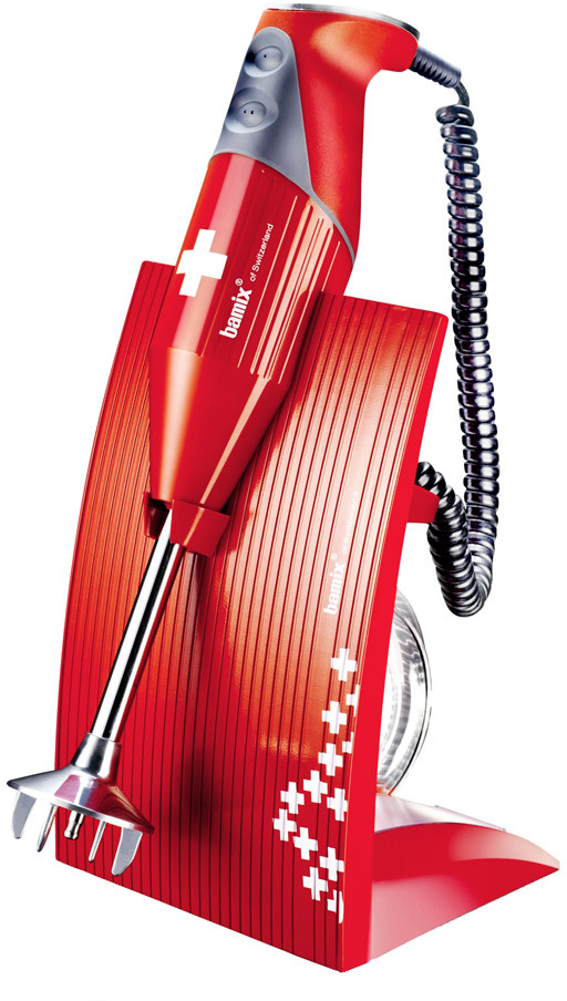 Bamix Stavmixer M200 Swissline Röd
