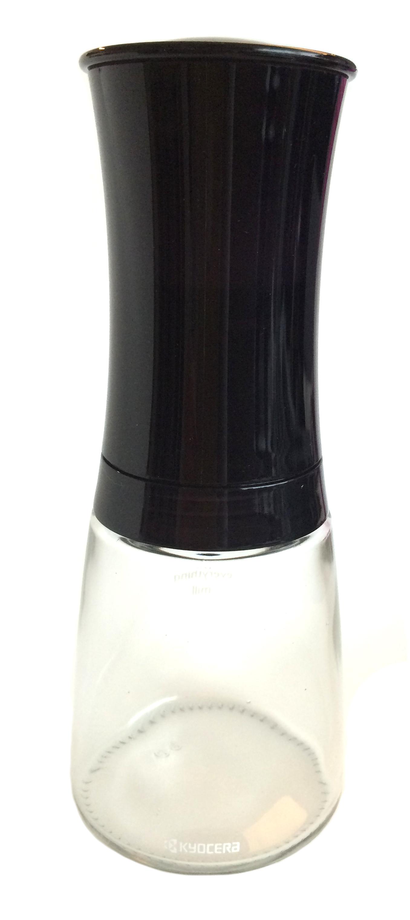 Kyocera Kryddkvarn Ställbar Svart/Glas