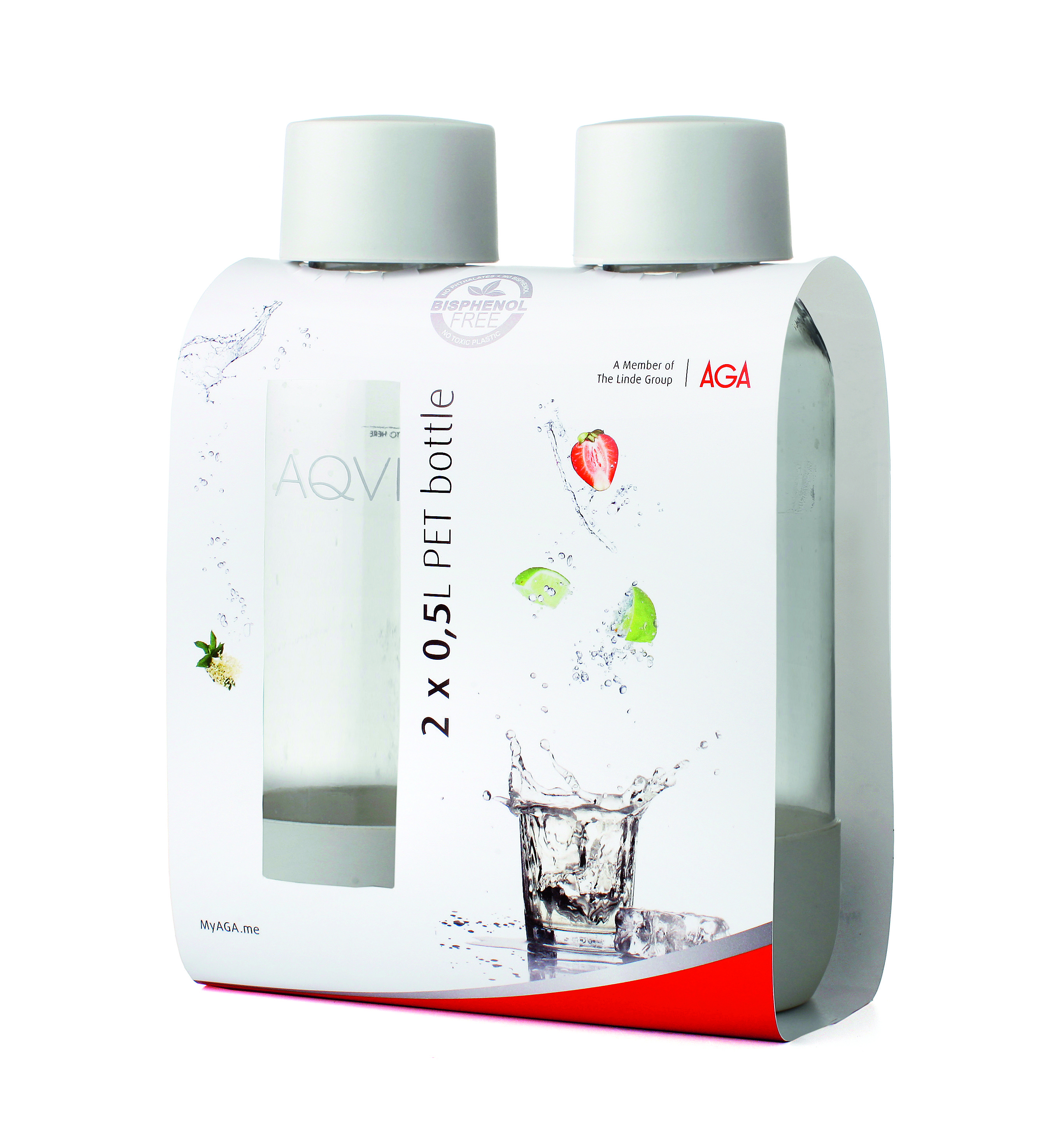 Aga Aqvia PET Flaska 05L Duopack Vit