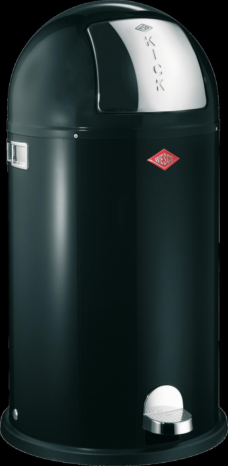 Wesco Pedalbøtte Kickboy 40 Liter Svart