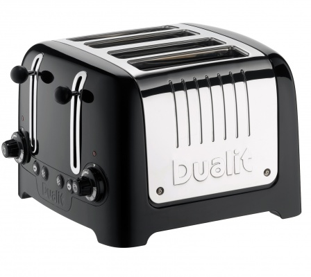 Dualit Lite Brödrost 4-skivor High Gloss Black