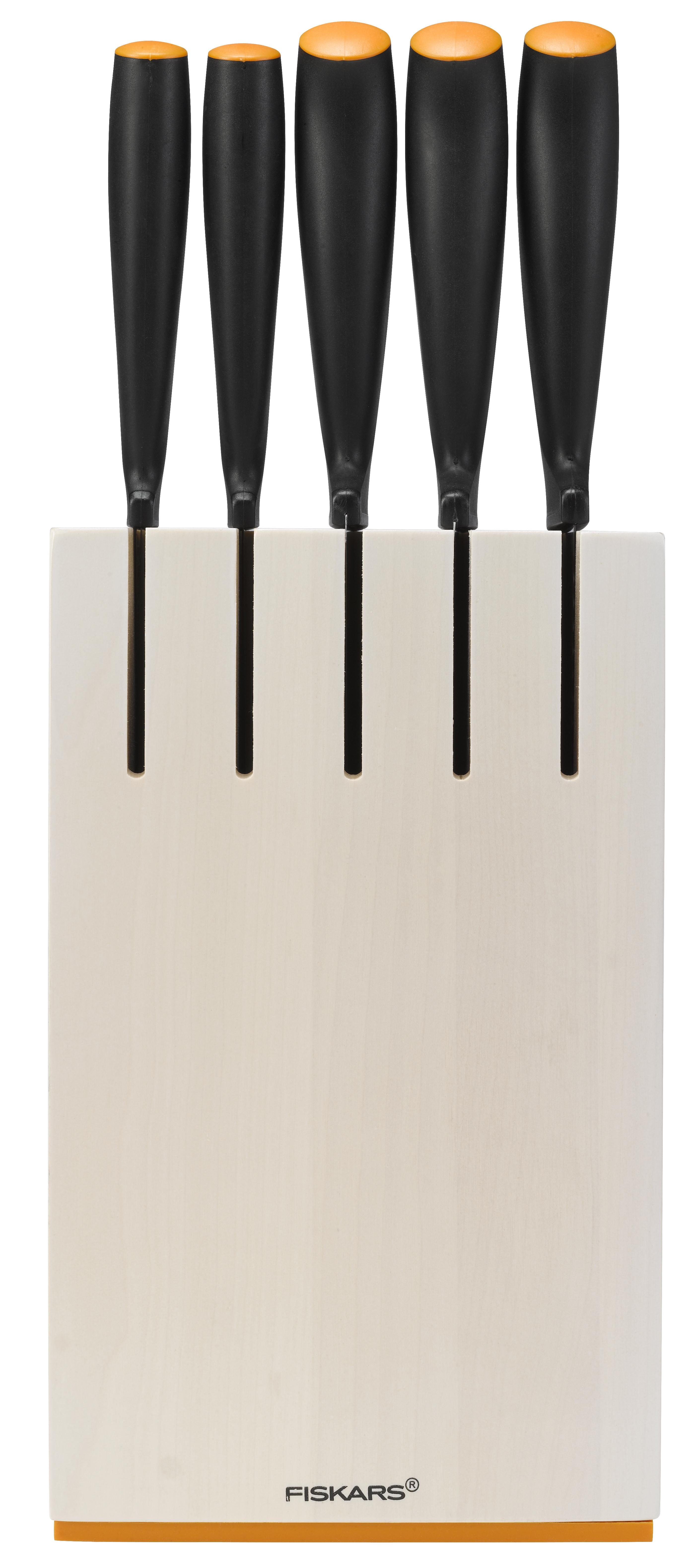 Fiskars Functional Form Knivset 5 Knivar med Knivblock Vit