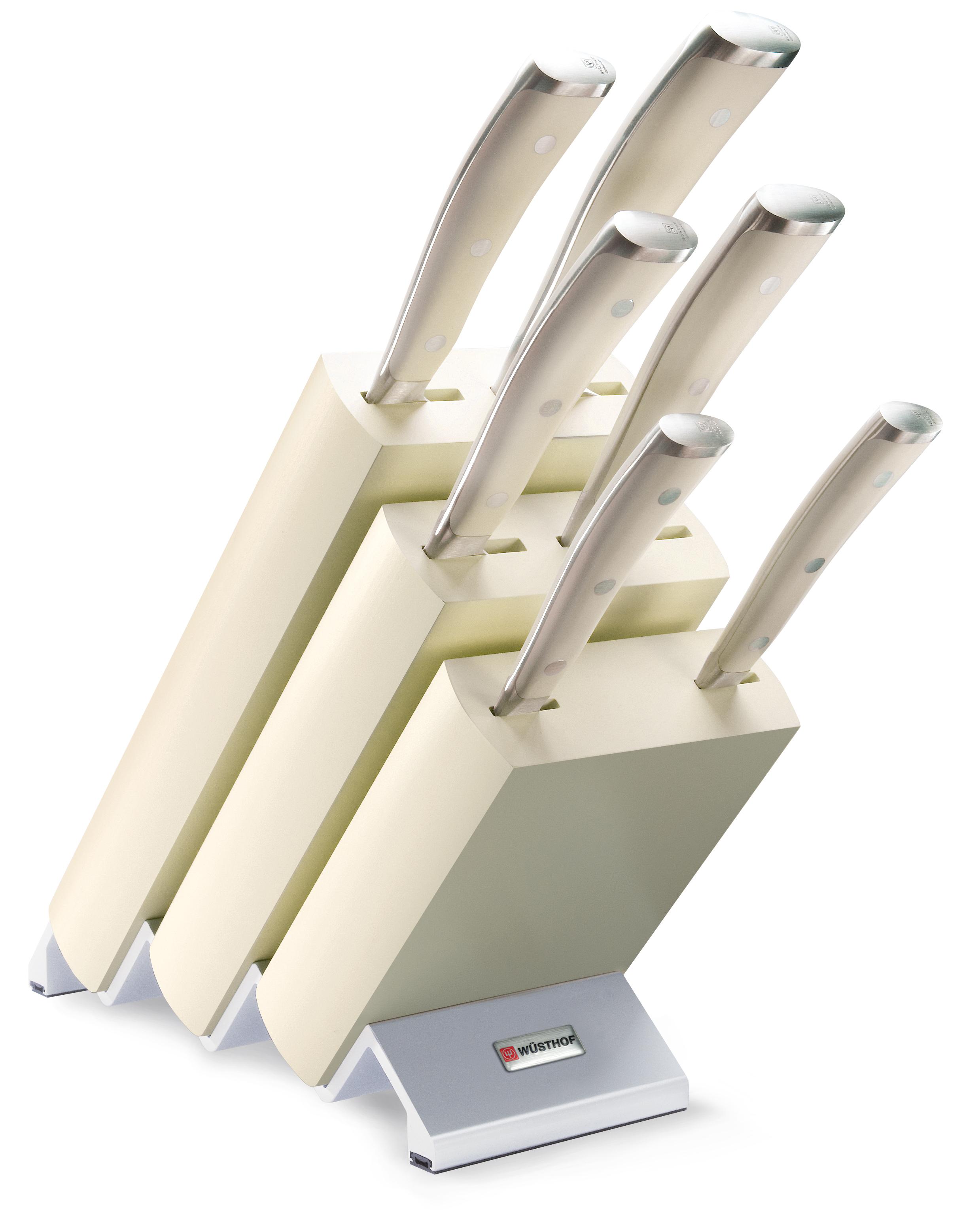 Wüsthof Classic Ikon Knivblokk med 6 Kniver Asp Hvitt