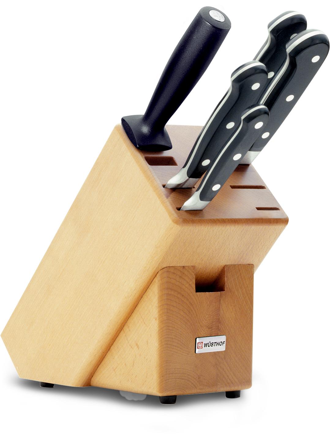 Wüsthof Classic Knivblock med 5 Knivar Bokträ