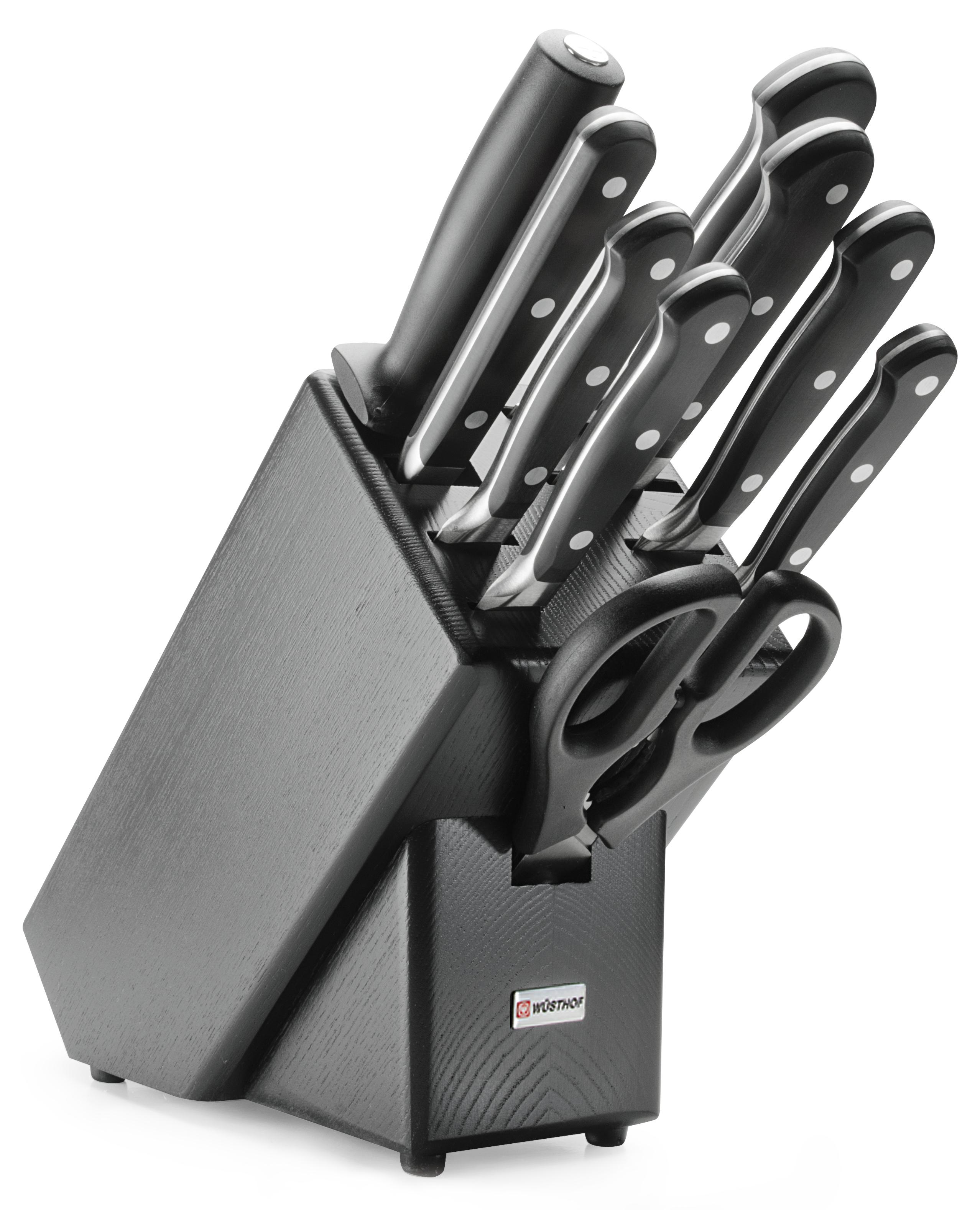 Wüsthof Classic Knivblokk med 9 Kniver Asp Svart