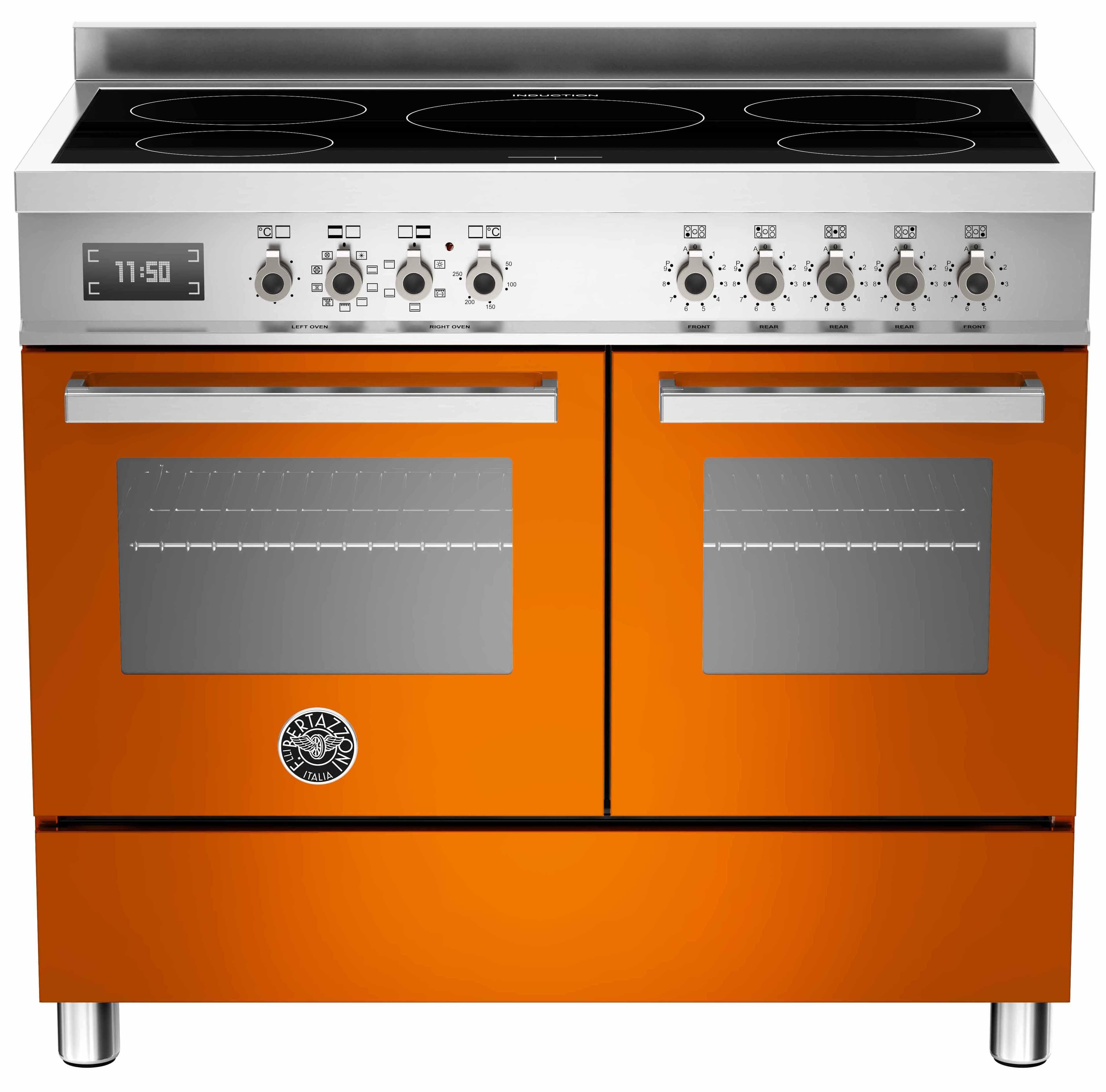 Bertazzoni PRO1005 Induktionsspis 100 cm, 2 ugnar, 5 zoner, Orange