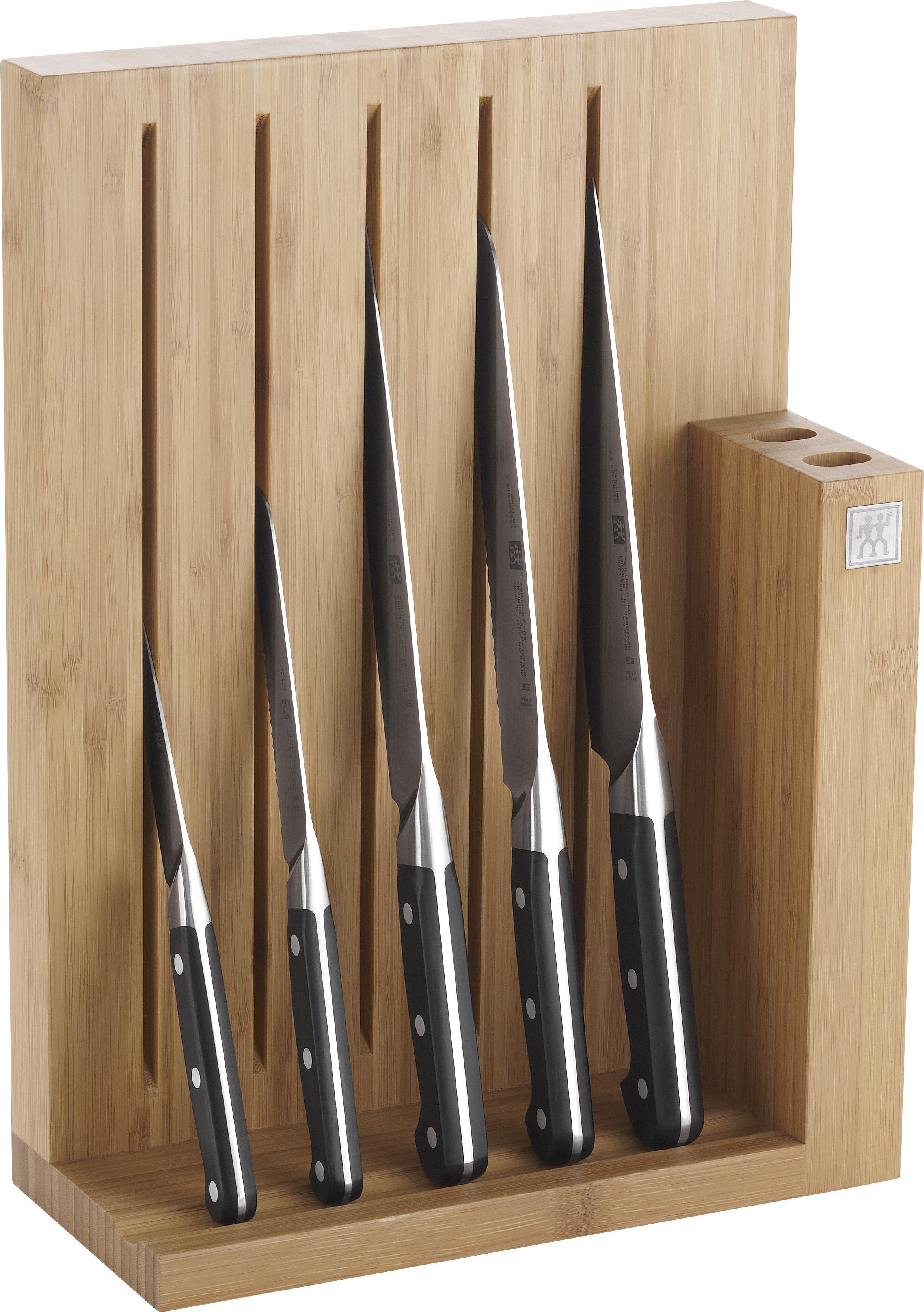 Zwilling Pro Knivblock i Bambu med 5 knivar