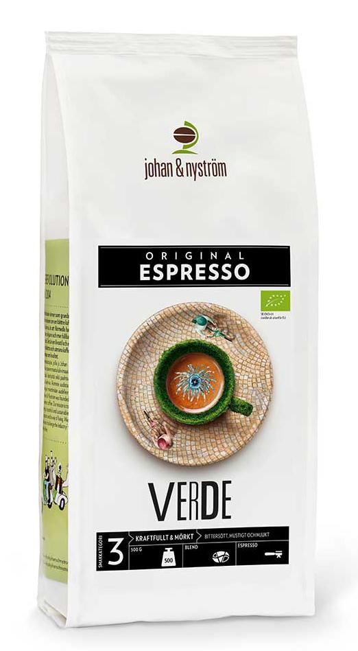 Johan och Nyström Espresso Verde Ekologiskt 500g