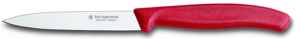 Victorinox Grönsaks- & Skalkniv Spetsig 10 cm Nylonhandtag Röd