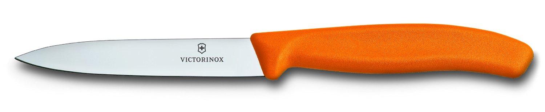 Victorinox Grönsaks- & Skalkniv Spetsig 10 cm Nylonhandtag Orange