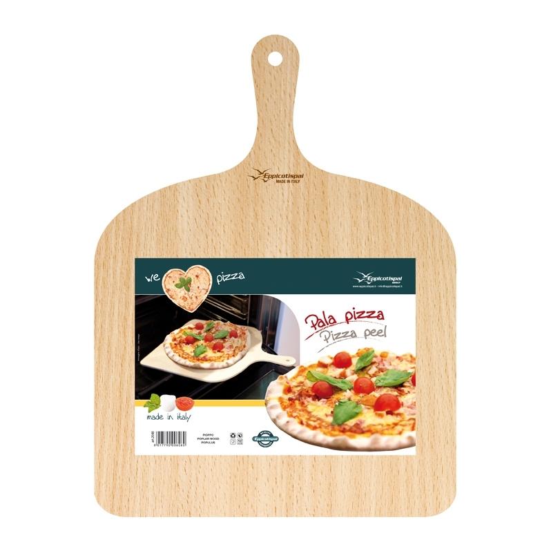 Kvadratisk Pizza/Bakspade Björkträ