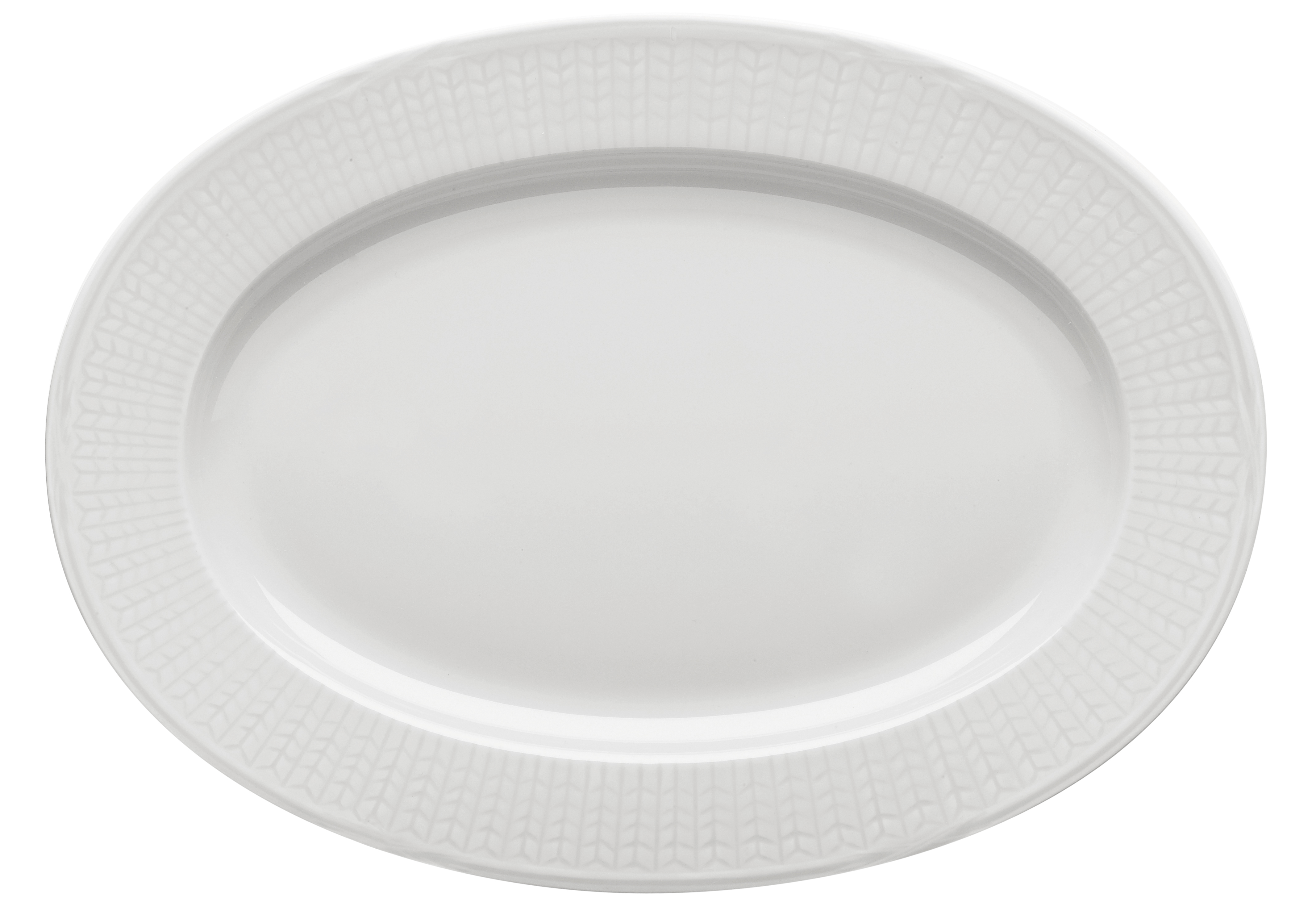 Rörstrand Swedish Grace Snö Tallrik oval 32 cm