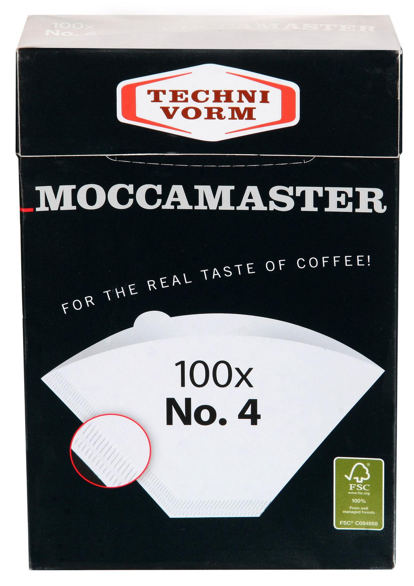 Moccamaster Kaffefilter storlek 1×4 100 st