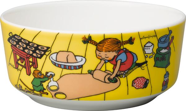 Rörstrand Pippi Langstrømpe Skål Bake på gulvet 15 cm