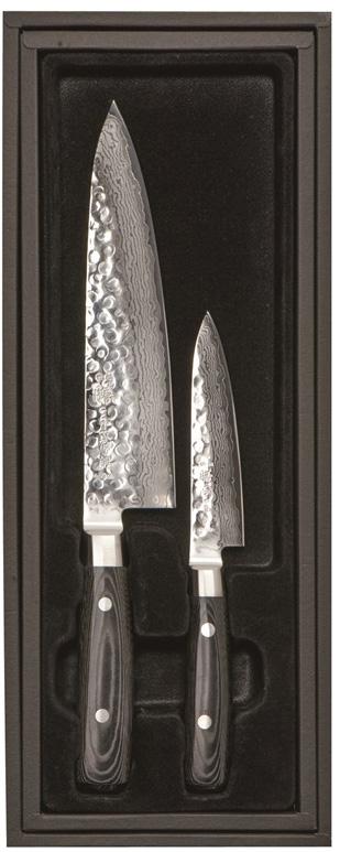 Yaxell ZEN 2-del Kockkniv 20cm & Allkniv 12cm