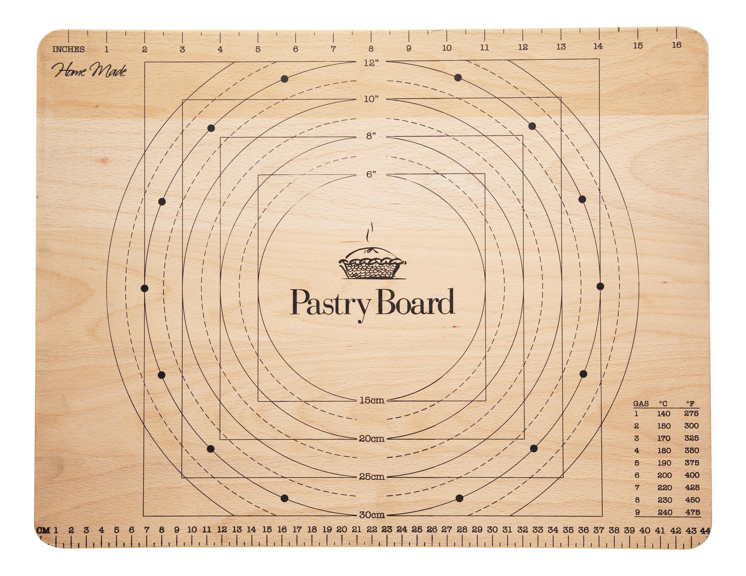 Kitchen Craft Bakbord i Trä med markeringar 45×35 cm